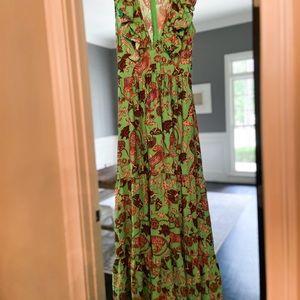 Gorgeous Leopard Green Maxi Dress NWT